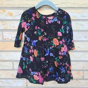 OLD NAVY  bird floral crinkle swing dress girls 2t